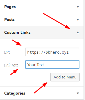 bbhero-add-custom-link-to-menu