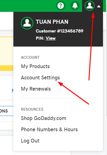 godaddy-account-settings