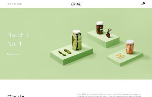 Brine Template Squarespace