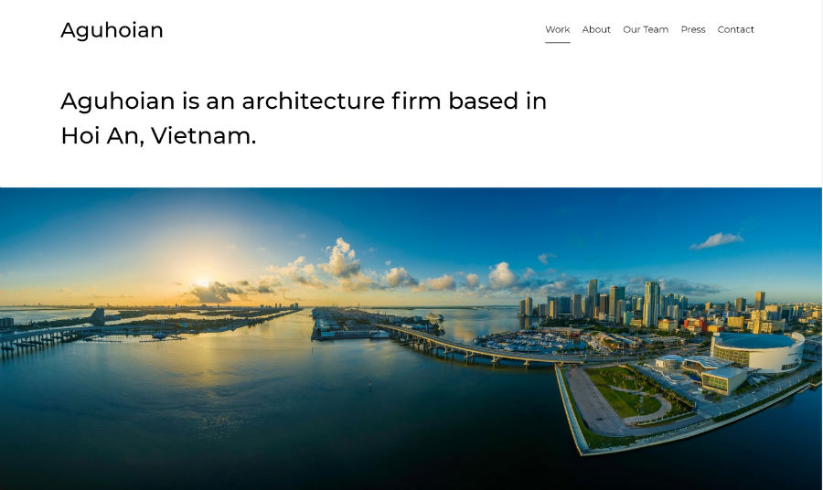 Aguhoian Business Free Template for Beaver Builder